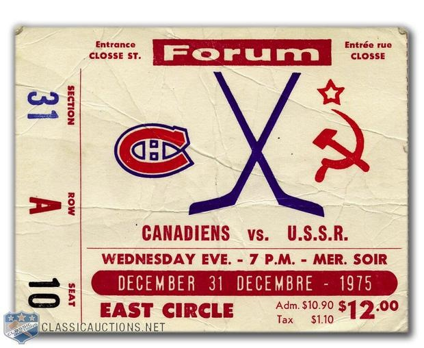 NEW YEARS EVE GAME 1975 - MONTREAL CANADIENS VS SOVIET CENTRAL RED ARMY