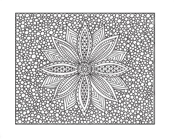 Zentangle Inspired Printable Coloring Page Zendoodle By