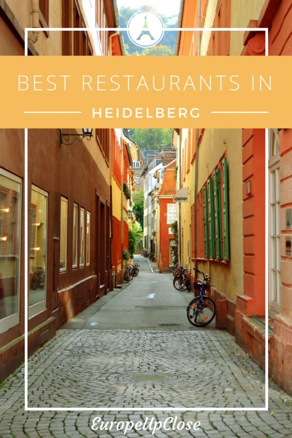 Heidelberg is a lovely tourist destination in the South of Germany - famous for its cuisine. Here are some of the best restaurants in Heidelberg!