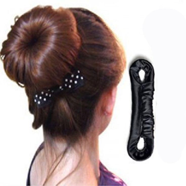 1 stks/partij Speciale Koreaanse Haaraccessoires Haarspeld Haar Stok Kapsel Tool Lade Haar Styling Gereedschap Quick Messy Bun Zwart Spons