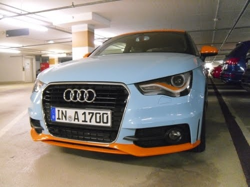 Gulf livery Audi A1 spotted at Ingolstadt HQ | quattroholic.com