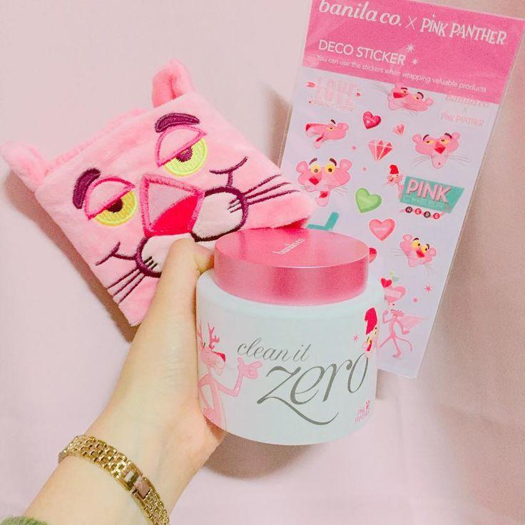 Banila co x Pink Panther Clean it Zero | 25,000won (120ml) | #ShopandBoxKorea #holidaycollection2016   image credit: https://www.instagram.com/p/BNQmQcdDj9v/?tagged=%EB%B0%94%EB%8B%90%EB%9D%BC%EC%BD%94