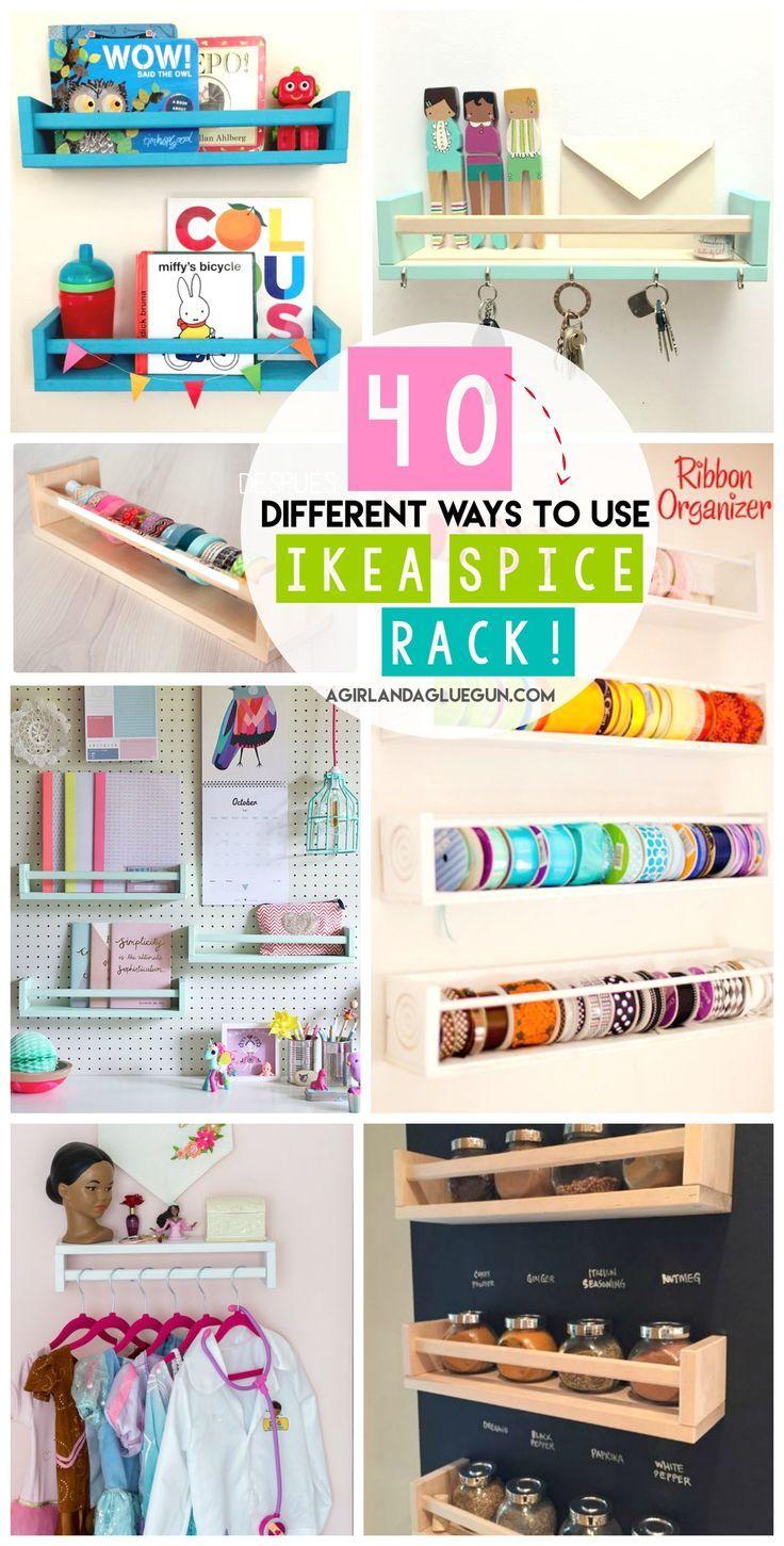 40 Möglichkeiten zum Organisieren mit einem Ikea-Gewürzregal