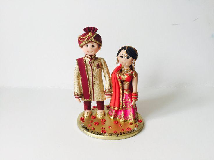 Pastel de bodas topper personalizado Asiático por ALittleRelic
