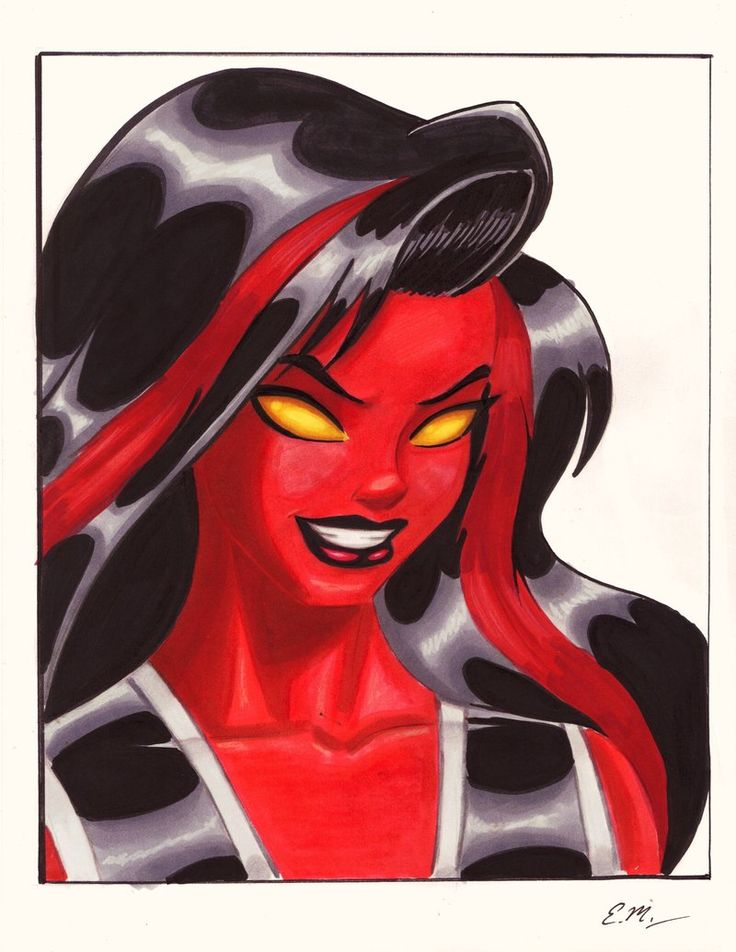 Red She-Hulk Commission by em-scribbles.deviantart.com on @deviantART