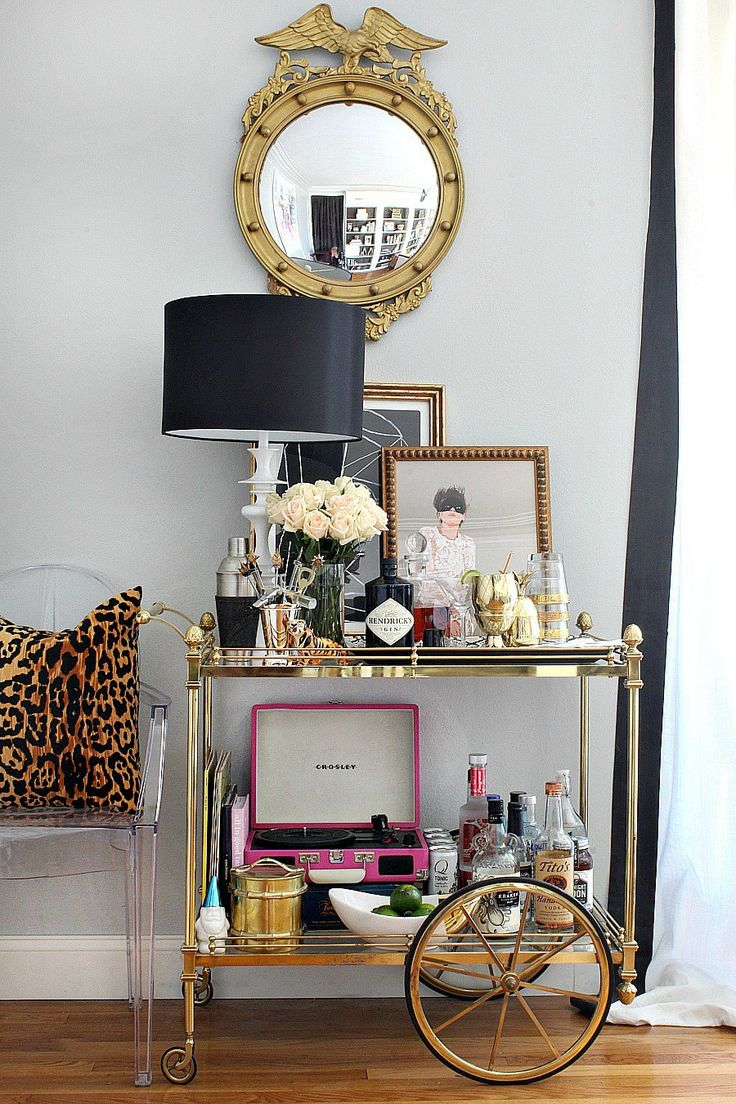 Bar Cart Styling Ideas and Tips (Bliss at Home)