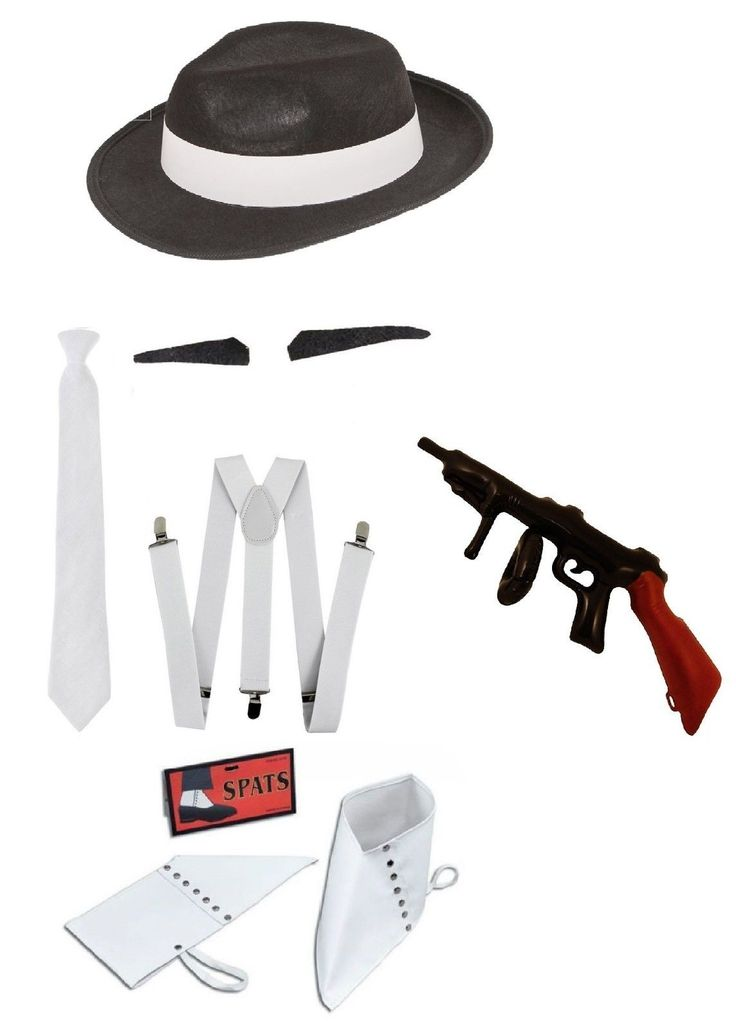 #Adult mens #1920s gangster #fancy dress costume 20's hat tie braces gun spats ta,  View more on the LINK: http://www.zeppy.io/product/gb/2/252548315399/