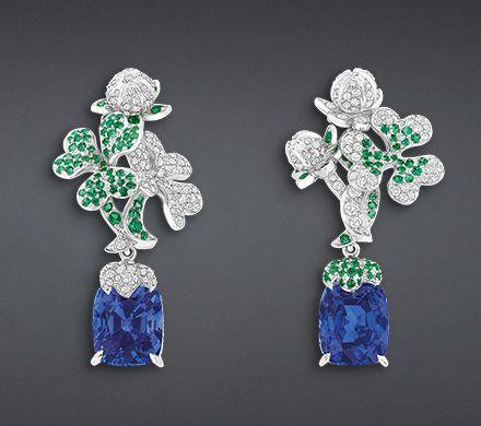 Boucles d'oreilles précieuses « trèfle » - Dior
