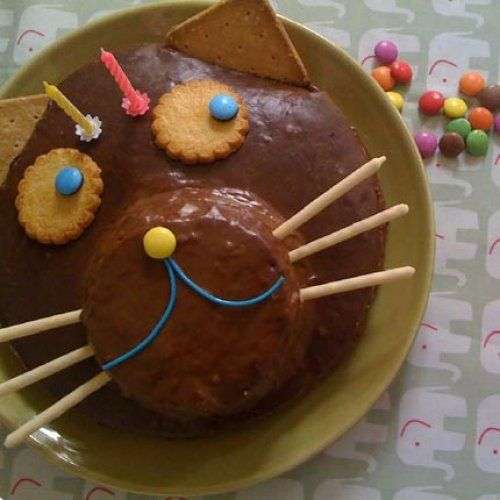 gâteau, chat, happy, boutique, chocolat, enfant