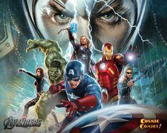avengers mini poster, loki in background - Google Search