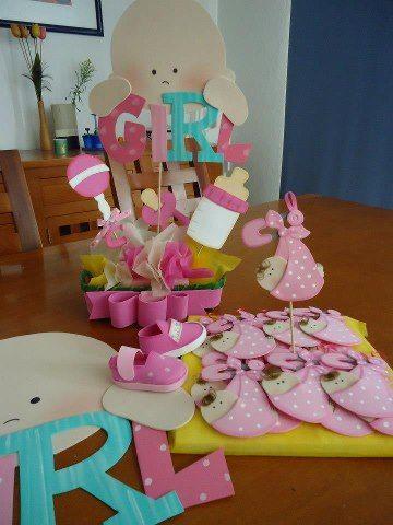 Baby shower, centros de mesa, pins, decoración,