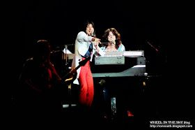 Four excellent photos of Steve Perry, Neal Schon, Gregg Rolie, Ross Valory and Steve Smith performing live. This was a Journey concert at the Dallas Convention Center on April 11, 1980.