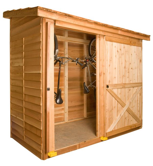 Above: A DIY Cedar Shed Bayside Kit Is Customizable And Comes With Such  Options As A Dutch Door, A Fixed Window, And A Sliding Door.