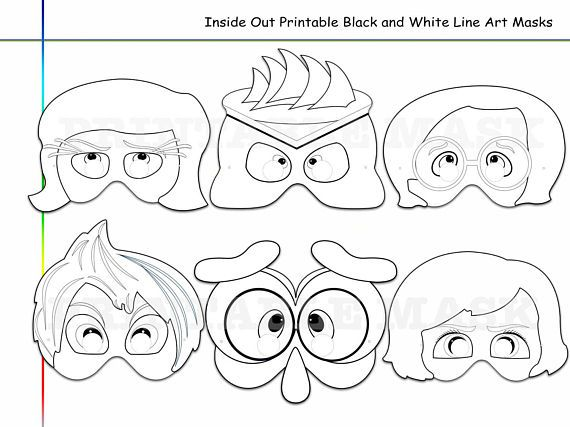 Coloring Pages Emotions On The Contrary Printable Black And Etsy Coloring Pages Black And White Lines Kids Dress Up