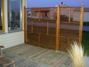Altan staket vindskydd insynsskydd