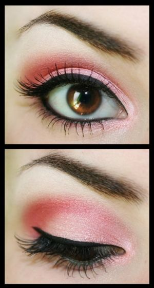 Pink eye makeup by veronica.fariaszambrano