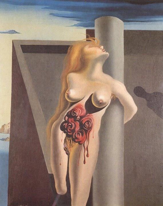 Las rosas sangriento - Salvador Dalí, 1930, óleo en lienzo