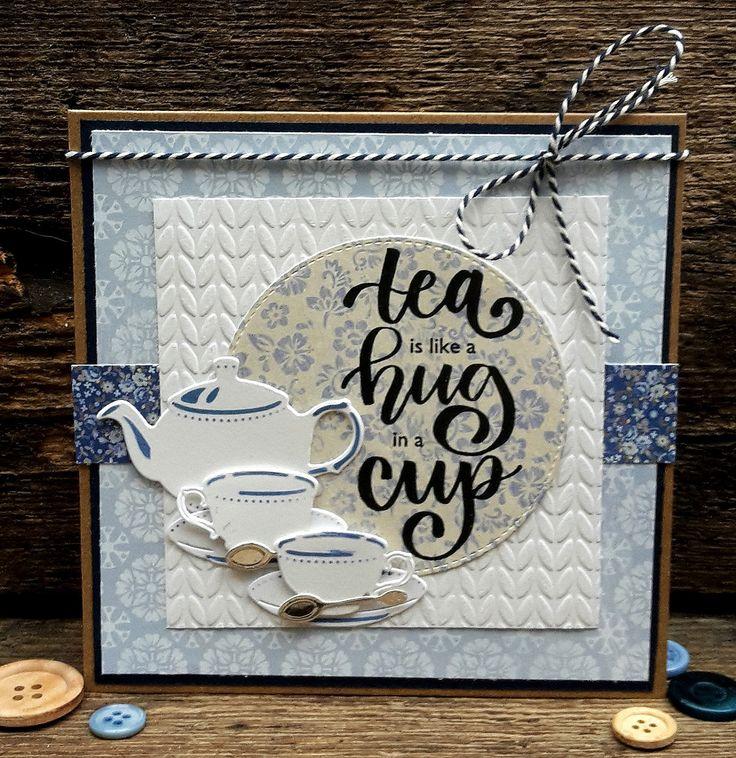 Als groot thee-liefhebber was ik meteen helemaal weg van de mooie stempels van Marianne Design. Karin Joan heeft deze mooie teksten ontwor...