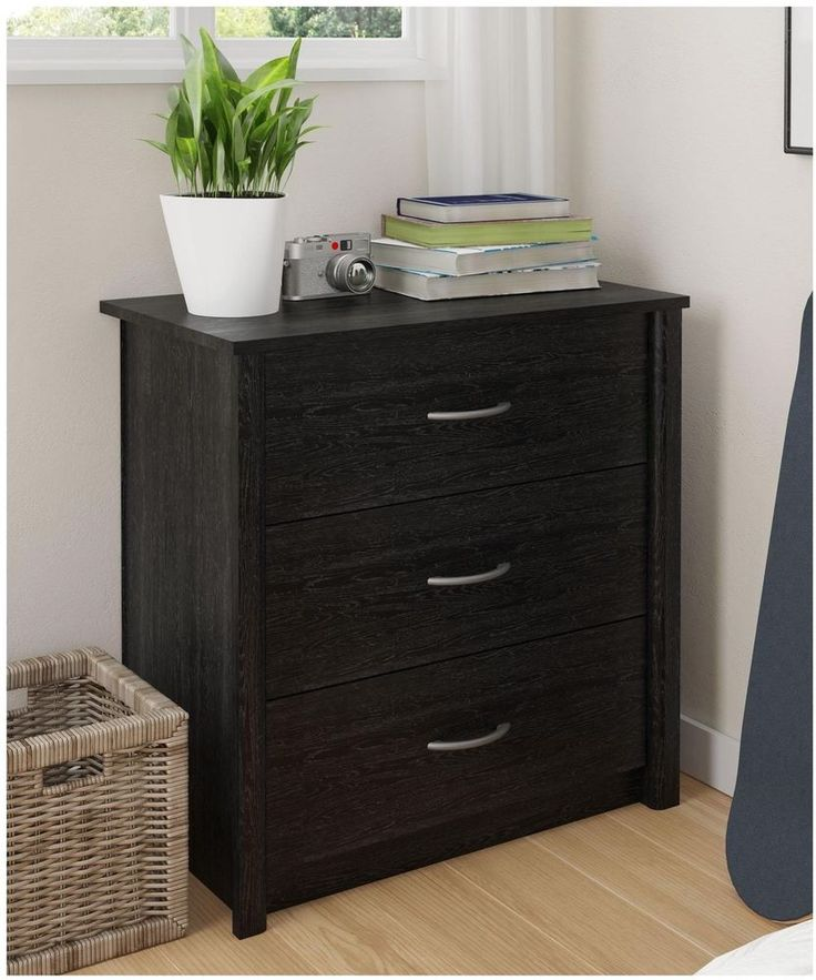 Superior Contemporary Dresser Drawer Solid Ebony Ash Finish Durable Bedroom Furniture Gallery