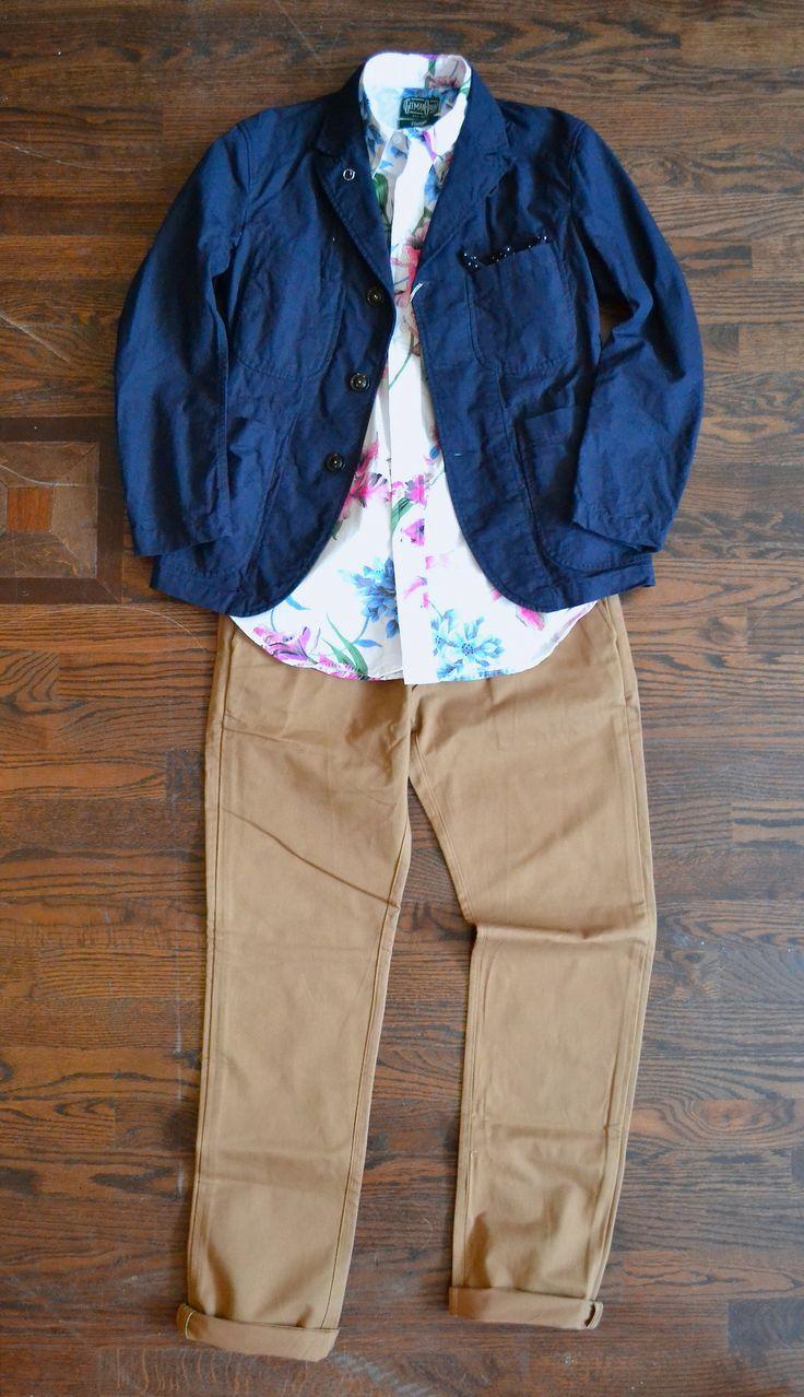 Vêtements d'ingénierie - Ripstop Bedford Veste Gitman Vintage - Bamboo Orchid chemise samedi - John Chino