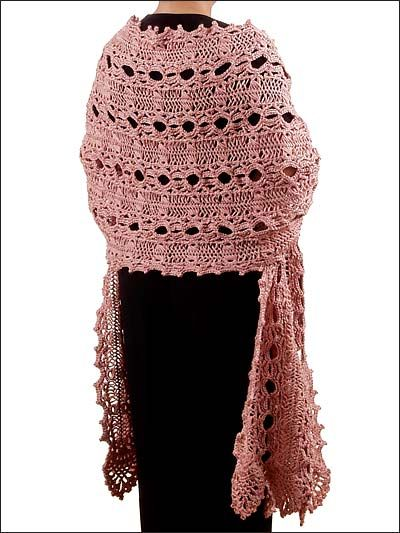 This pretty crocheted Pineapple Lace wrap is FREE for all members of FreePatterns.com Membership is FREE