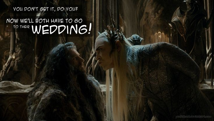 I don't know whether to die or laughter or scream and cry because of the idea of Kili and Tauriel married