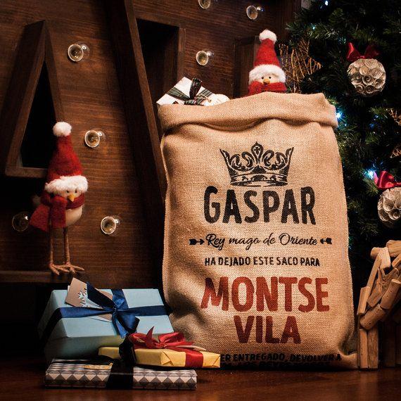 PERSONALIZADO  Saco de Navidad Reyes Magos Gaspar por KukoStudio