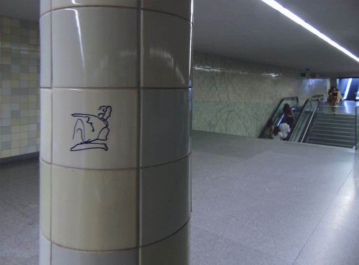 Siza Vieira | Porto | Metro do Porto / Oporto Underground | Estação de / Station of S. Bento | 2005 #Azulejo #AzulejoDoMês #AzulejoOfTheMonth