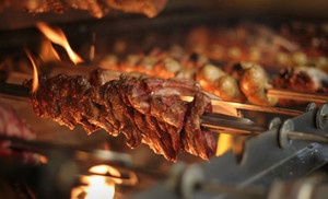Groupon - Brazilian Churrasco Dinner for Two, Four, or Six at Pradaria Steaks & Churrascaria (Up to 51% Off) in Houston (Galleria). Groupon deal price: $38.0.00