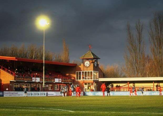 New Manor Ground, Ilkeston FC. Northern Premier League Premier Division.  Foto, Rob Stephenson.
