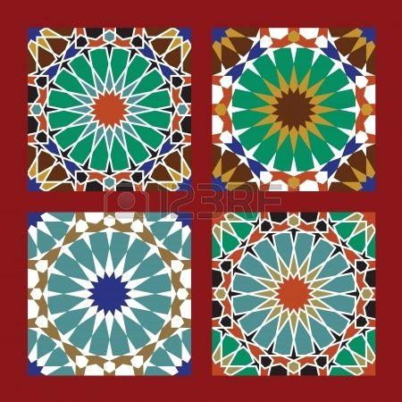 Set Traditional Marokko Patterns