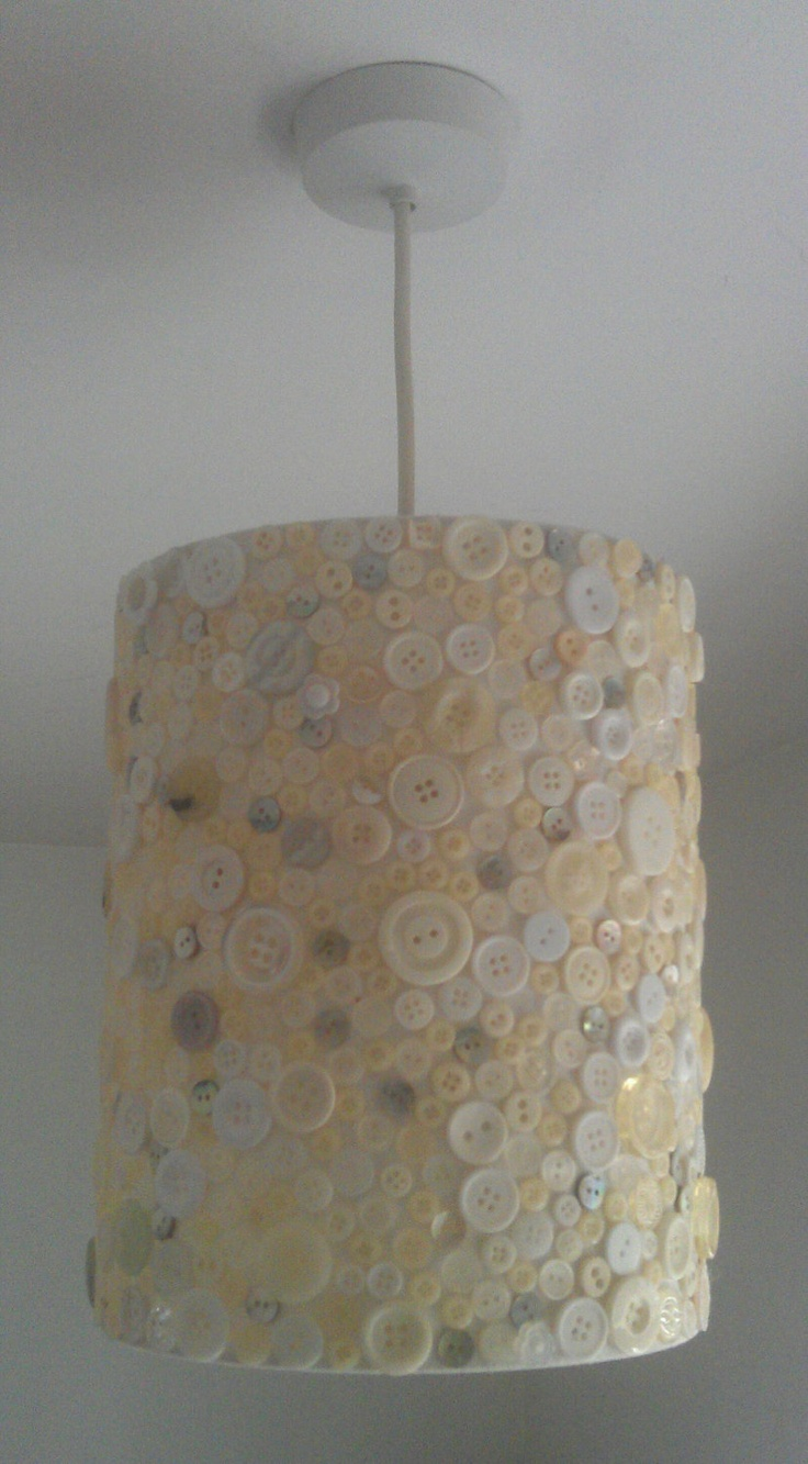 Vintage Button Lampshade by SoShaz on Etsy