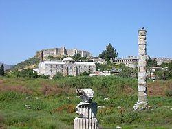 El Templo de Artemisa fue un templo ubicado en la ciudad de Éfeso, Turquía, dedicado a la diosa Artemisa, denominada Diana por los romanos. Su construcción fue comenzada por el rey Creso de Lidia y duró unos 120 años.  De grandes dimensiones y hermosa arquitectura, es considerada una de las Siete Maravillas del Mundo Antiguo, tal como lo describió Antípatro de Sidón, quien elaboró la famosa lista: