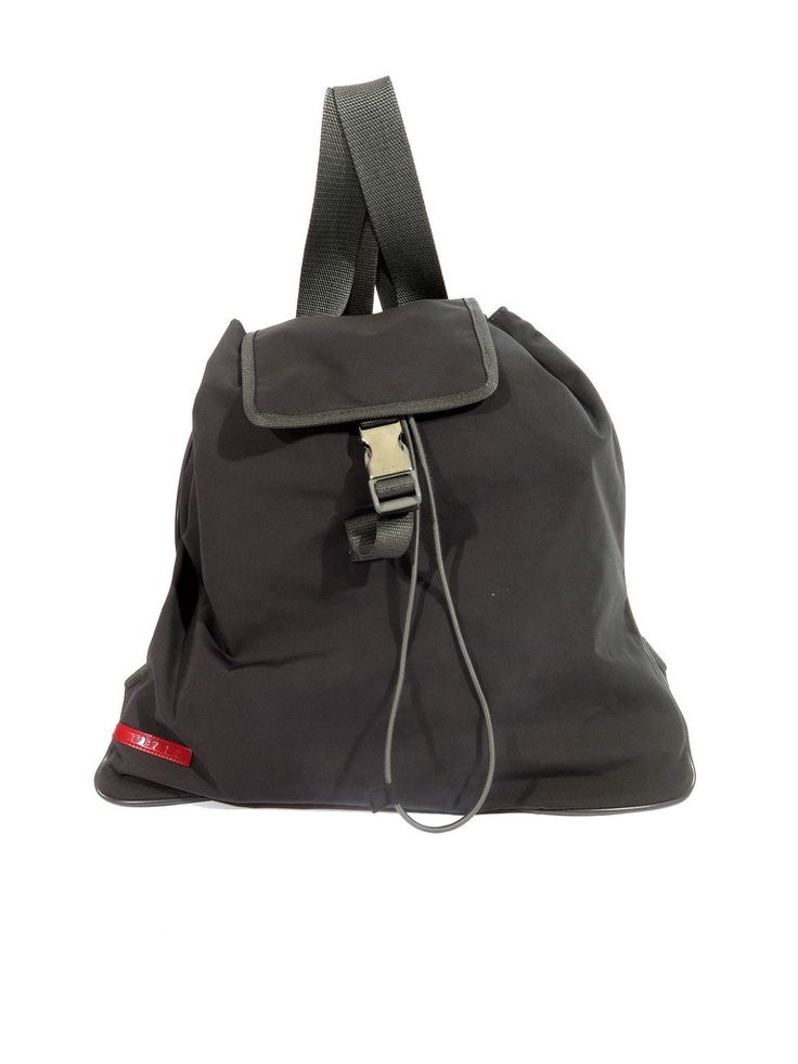 Prada | Sport Drawstring Backpack in grey www.sabrinascloset.com