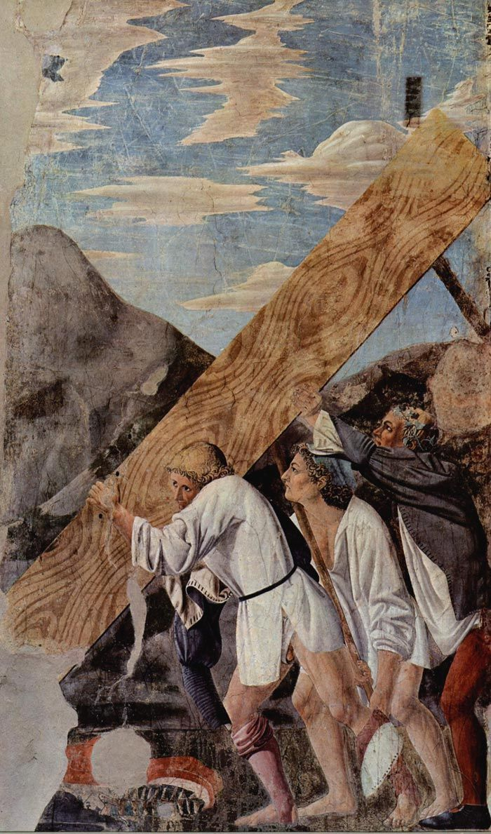 Piero della Francesca, Burial of the Wood, c. 1466, fresco 390 x 747 cm, San Francesco, Arezzo