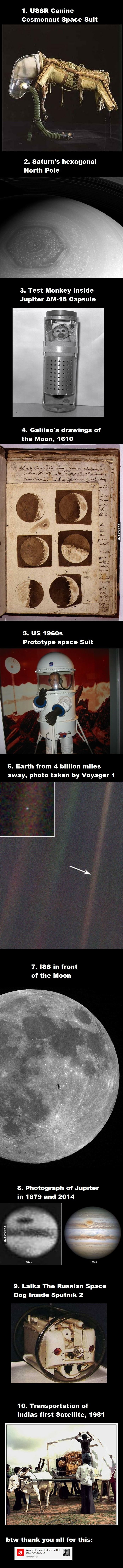 Collection of interesting pictures I found over the years, Part 24:  Astronomy and Astronautics