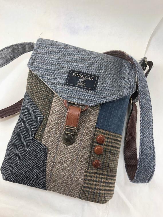 Recycled Crossbody Geldbeutel recycled Geldbörse iPhone Handtasche Tasche, Recycling Geldbörse Wolle Handtasche Damen Handtasche, Einkaufstasche