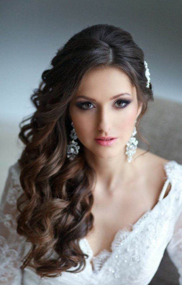 Bridal Hairstyles Side Lashes Curly Hairstyle Hairstyles Bridal Hairstyles Side Lashes Open Wedding Hair Side Side Hairstyles Wedding Hairstyles For Long Hair