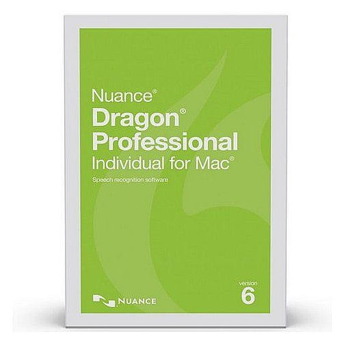 Nuance S601A-F00-6.0 Dragon Professional Individual for Mac Academic Version 6 Speech Recognition Software