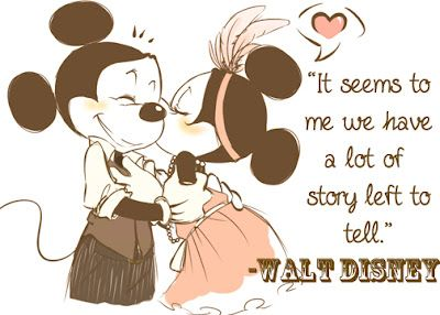 """""""It seems to me we have a lot of story left to tell."""" -Walt Disney Valentine"""