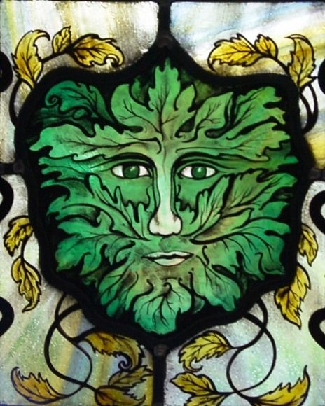Amazing Green Man by Jude Tarrant.  St Aldhelms Chapel ~ Lytchett Heath