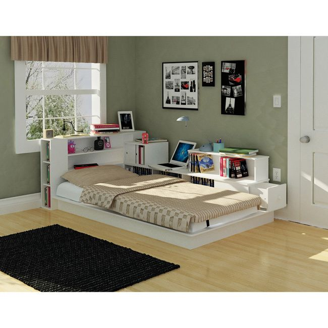 rack kingston white twin platform bed - Low Profile Twin Bed Frame