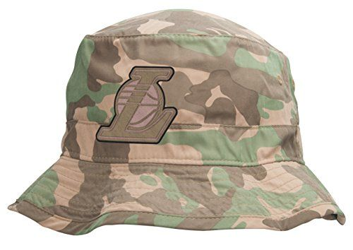 Mitchell & Ness LA Lakers Ambush Camo Bucket Hat L/XL - http://weheartlakers.com/lakers-caps/mitchell-ness-la-lakers-ambush-camo-bucket-hat-lxl