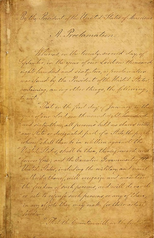 best gettysburg address images civil wars  page 1 of the emancipation proclomation