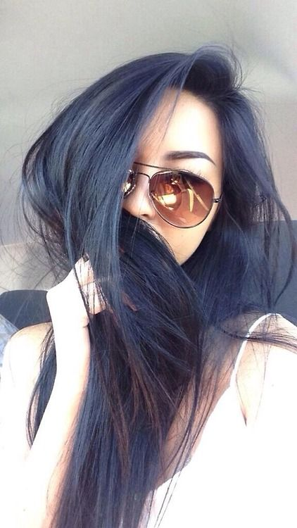 Ashy navy hair