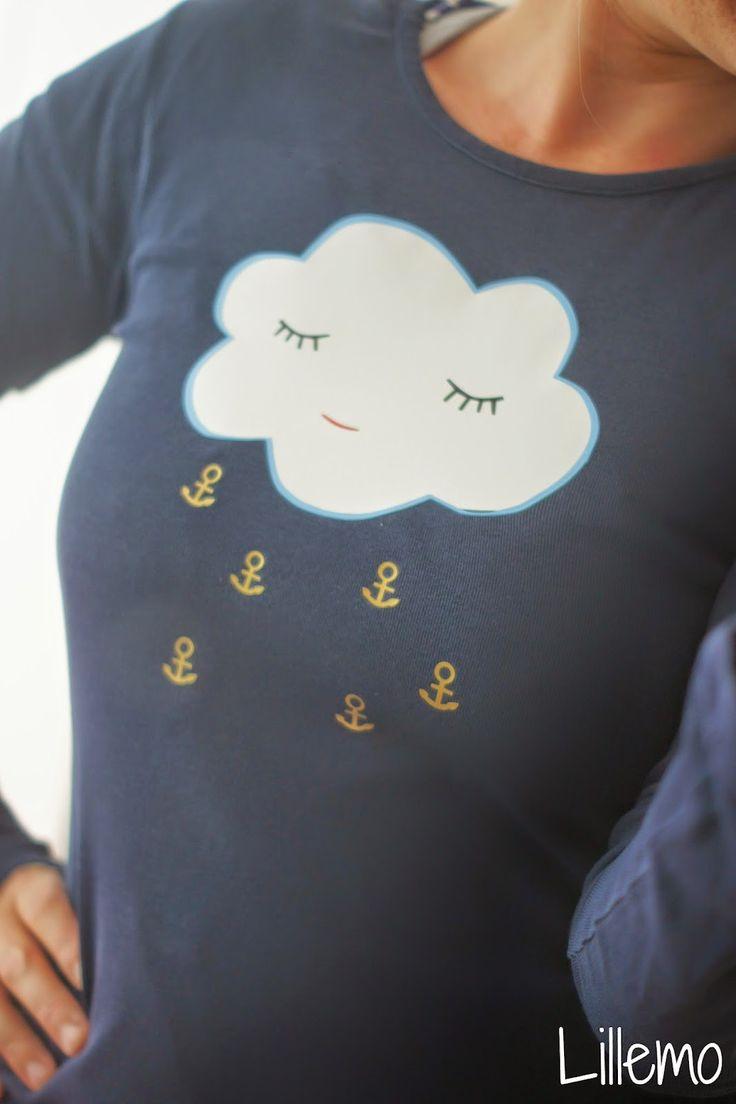 lillemo wolke Anker Regen Ankerregen Plottervorlage Plotter cloud