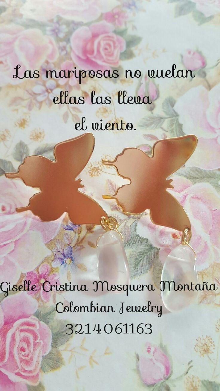 Las mariposas no vuelan las lleva el viento.....