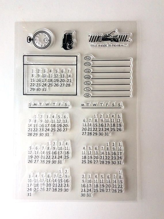 Bullet Journal Silicone Stamp/ Bujo Calendar Date Clear stamp/ | Bujo Stationary | Bujo Stamps | Bullet Journal equipment (Affiliatelink - I will earn a small commission if you purchase through this link - no additional cost for you)