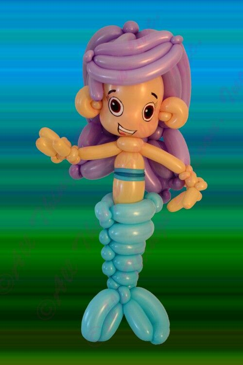 Mermaid/Guppy balloon character