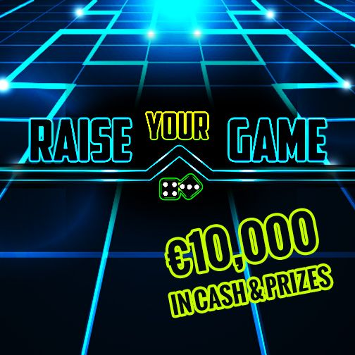 It's finally here! #RaiseYourGame has started!  Join us every day for lucky draws, #freeSpins, prizes and our very best promotions!